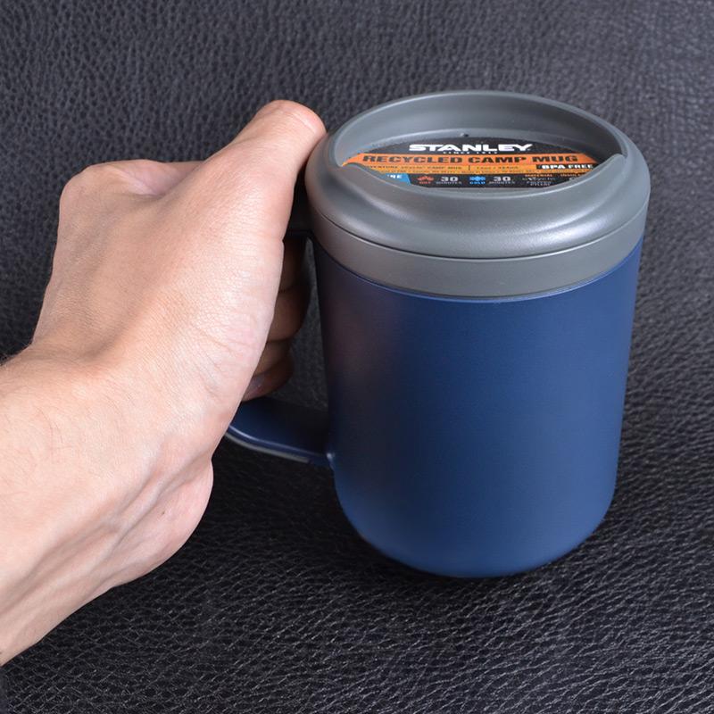 Термокружка с крышкой Stanley Adventure eCycle (0.35л), темно-синяя
