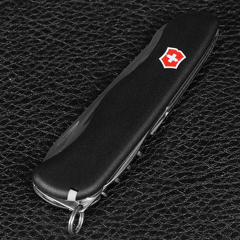 Нож складной, мультитул Victorinox Nomad (111мм, 11 функций), черный 0.8353.3
