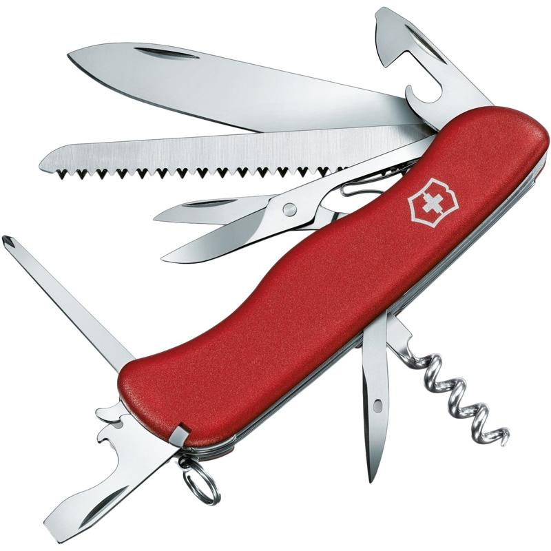 Нож складной, мультитул Victorinox Outrider (111мм, 14 функций), красный 0.9023