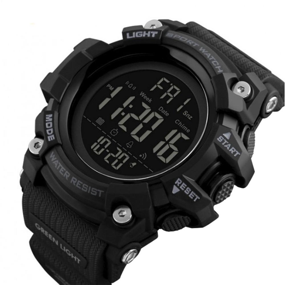 Часы электронные, спортивные Skmei 1384, черные, в металлическом боксе