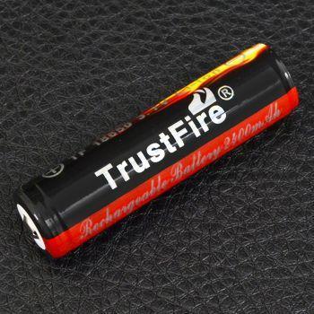 Аккумулятор литиевый Li-Ion 18650 TrustFire 3.7V (2400mAh), защищенный