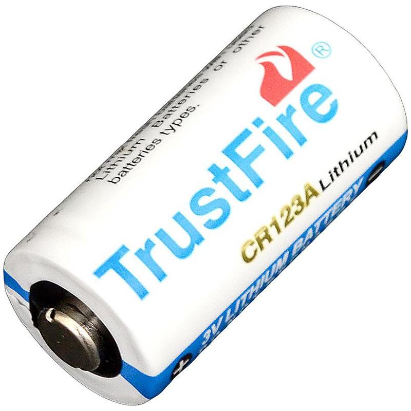 Батарейка литиевая Li-Ion CR123A / 16340 3V TrustFire (1400mAh)