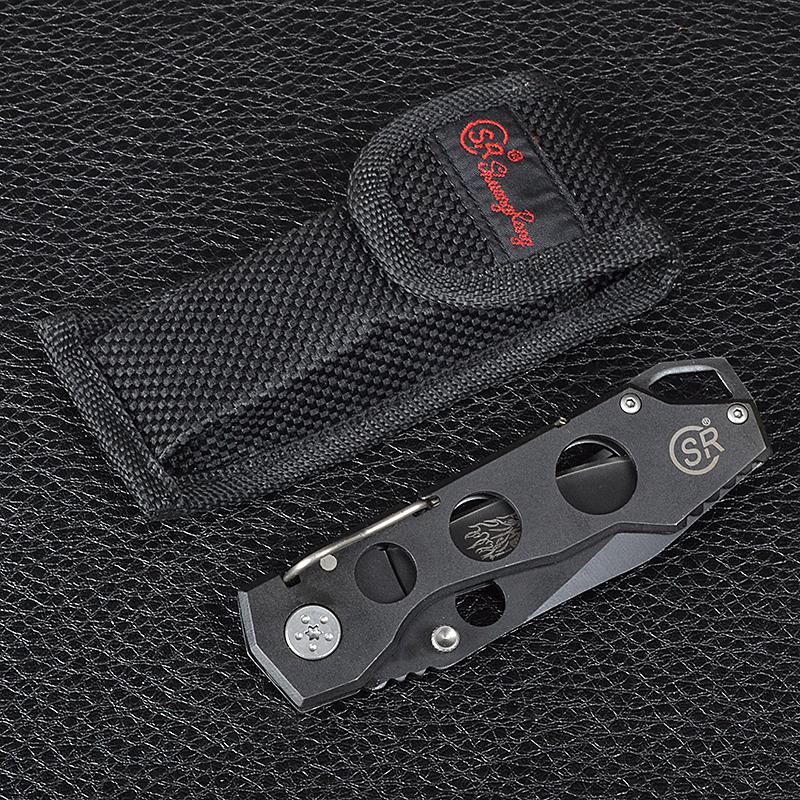 Нож складной SR One Hand (длина: 18.5сm, лезвие: 8.0cm), нейлоновый чехол
