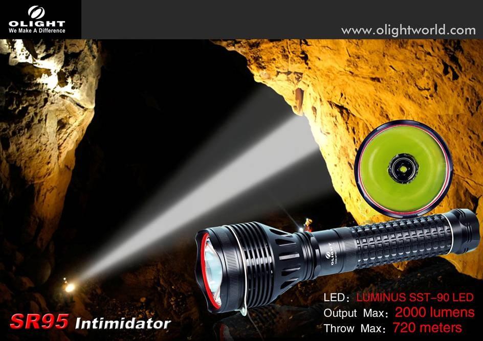 Серийный фонарь Olight SR95 Intimidator
